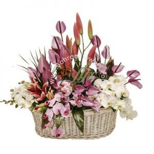 سبد گل رنگی سایز بزرگ